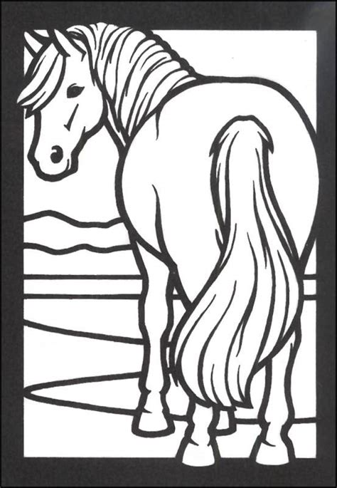 stained glass coloring book horses stained glass coloring book 014604 details