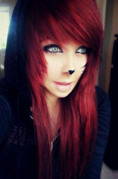 emo hairstyles for redheads emo scene girls tumblr google search hair pinterest