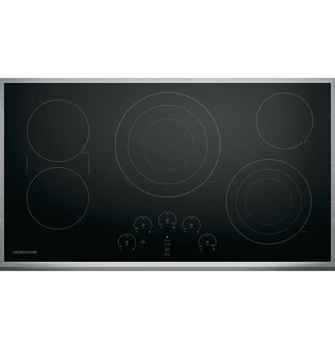 monogram cooktop zeu36rsjss monogram 36 quot touch electric cooktop