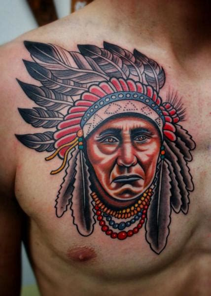 tattoo chest indian tatouage coffre indien par little vinnies tattos