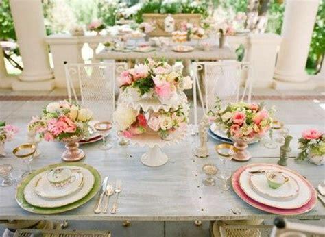 Garden Place Setting Shabby Chic Wedding Pinterest Shabby Chic Table Settings