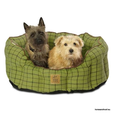 house of paws dog bed house of paws green tweed oval snuggle bed for dogs