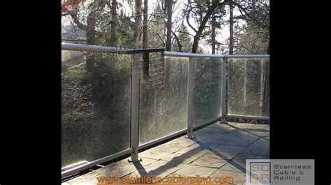 Wooden Handrail Deck Railing Amazing Transformation From Glass To Cable