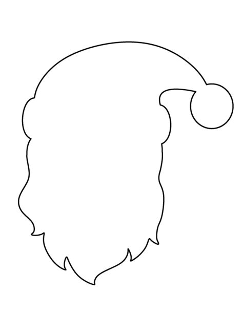 printable santa face template printable santa claus face pattern use the pattern for