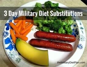 3 day diet substitutions diet