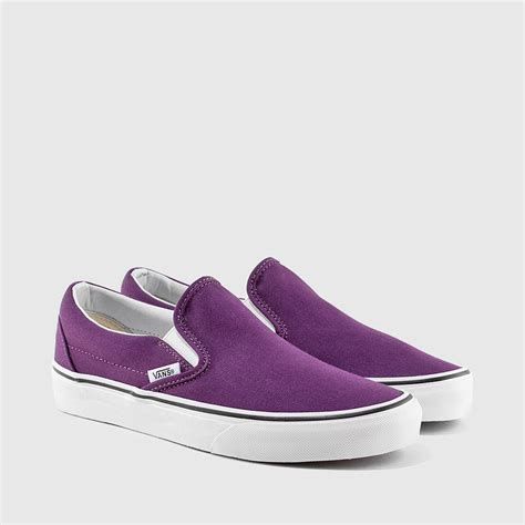 Sepatu Sneakers Vans Classic Slip On Navy Grade Original 36 40 vans grade school classic slip on plum purple