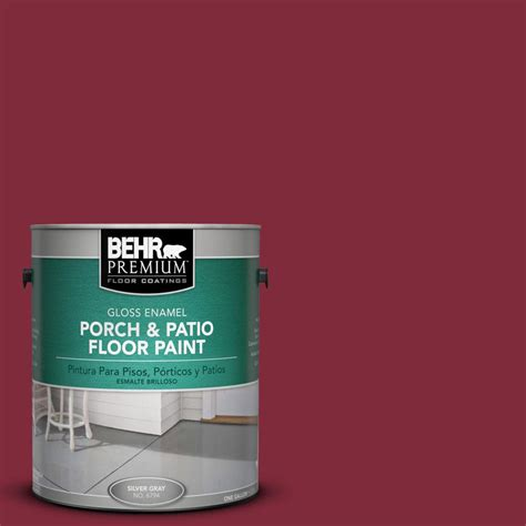 Behr Porch And Patio Floor Paint by Behr Premium 1 Gal S H 130 Wine Gloss Porch And