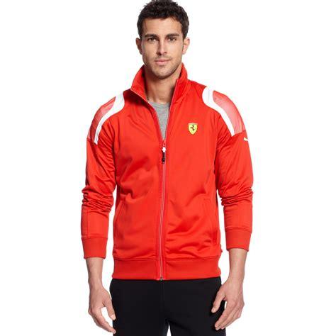 ferrari clothing lyst puma scuderia ferrari track jacket in red for men