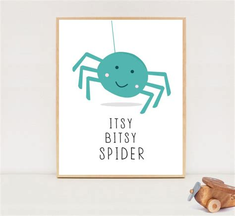 Itsy Bitsy Book Etsy Itsy Bitsy Spider Quote Printable Nursery Wall Instant
