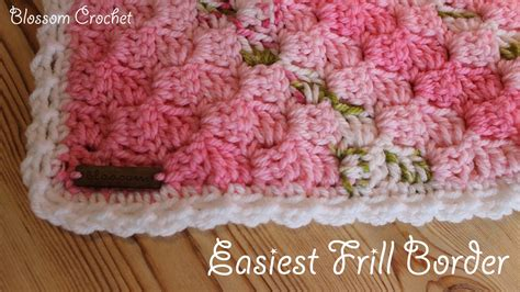 Easiest Way To Crochet A Blanket by Easiest Crochet Border Simple Frills Viyoutube