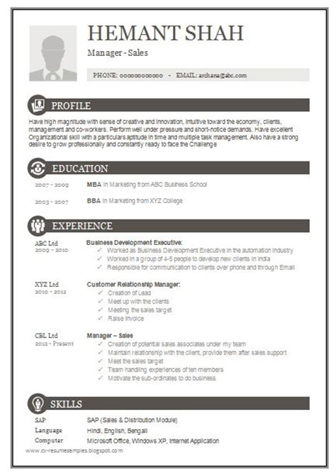 Resume Format For Mba Lecturer The World S Catalog Of Ideas