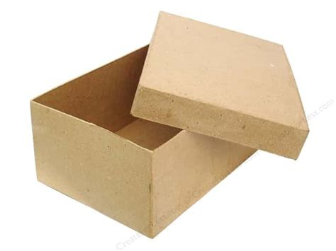 Craft Paper Boxes - paper mache rectangle box 7 1 2 in by craft pedlars