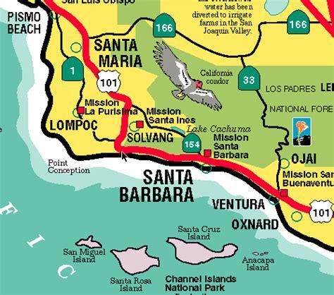 santa map maps of santa barbara