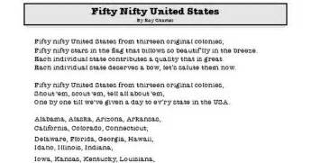 printable lyrics 50 nifty united states fifty nifty united states song pdf google drive