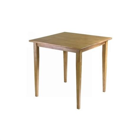 winsome groveland square light oak finish dining table ebay