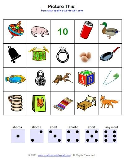 Printable Games Phonics | printable phonics worksheets for early learners