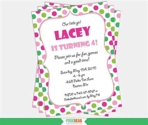 pink and green polka dot birthday invitations 17 best images about polka dot confetti ideas on green blue and and bark recipe