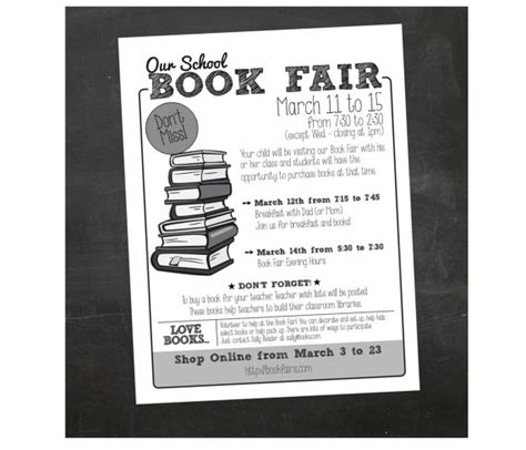 custom printable book fair school flyer by inspiration
