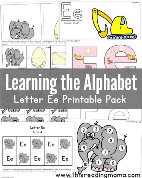 printable games for learning the alphabet learning the alphabet letter e printable pack learning