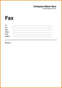 Fax Template Word 2010 by Fax Cover Word