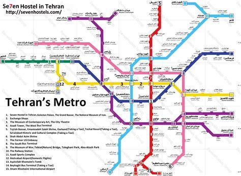 map of tehran iran tehran metro map pdf