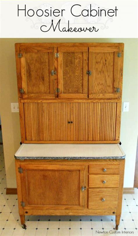 Diy Kitchen Cabinet Refinishing Hoosier Cabinet Makeover Newton Custom Interiors