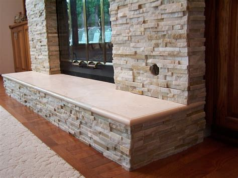 Quartz Fireplace Chase   Traditional   other metro   by Artisan Stone & Tile