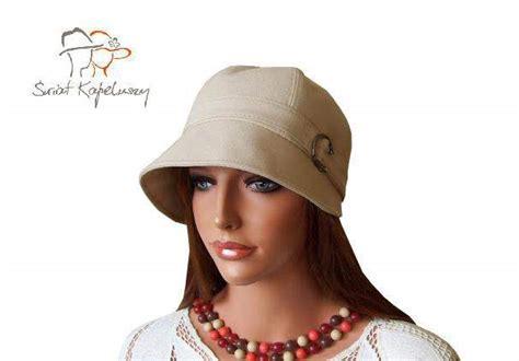 len retro kapelusz damski czapka damska len retro toczek 57