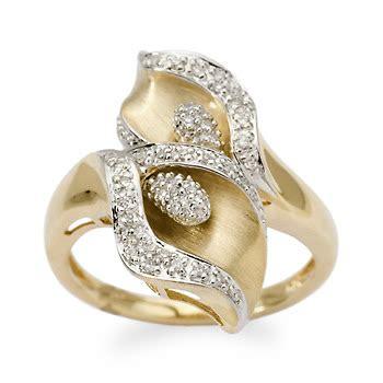fashion calla bypass ring fashion jewelry