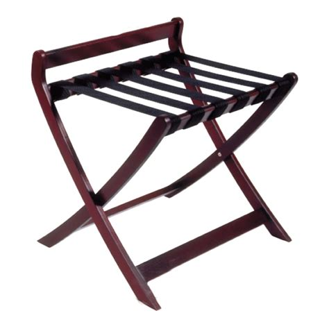 Wooden Luggage Rack by Deluxe Wooden Luggage Rack Beech