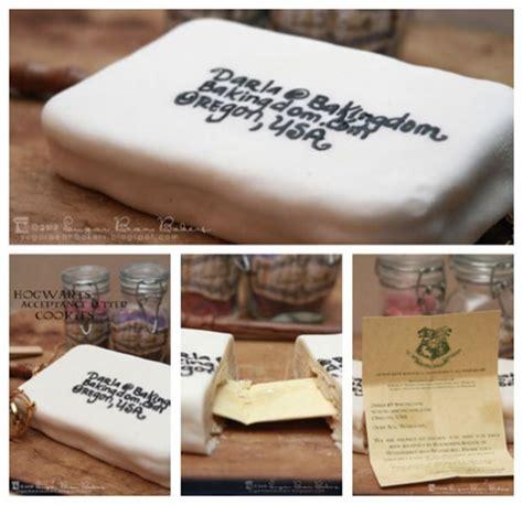 Hogwarts Acceptance Letter Cookie food geeks of doom