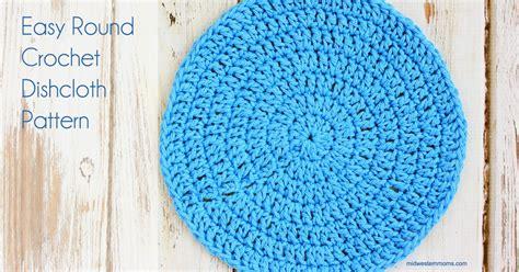 pattern crochet circle easy round crochet dishcloth pattern