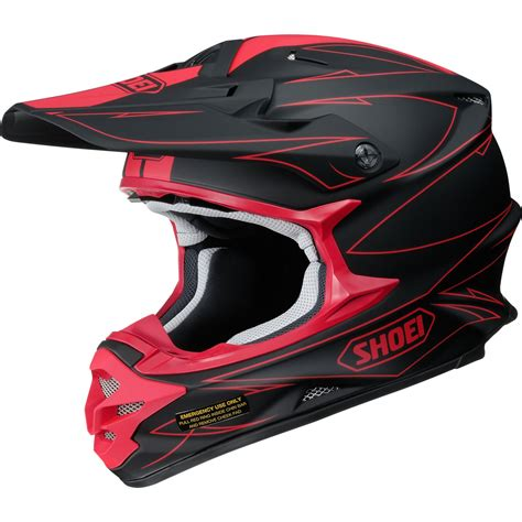 shoei motocross shoei vfx w hectic motocross mx helmet dirt adventure
