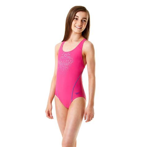speedo girl swimsuit speedo endurance 10 logo splashback girls swimsuit
