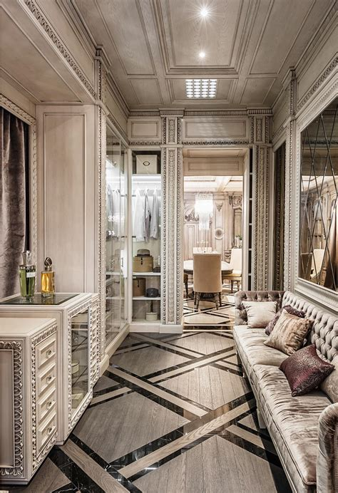 home interior deco neoclassical and deco features in two luxurious interiors