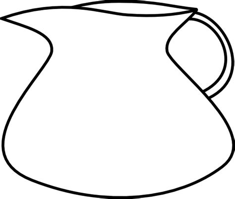 water jug coloring page blank water pitcher clip art at clker com vector clip