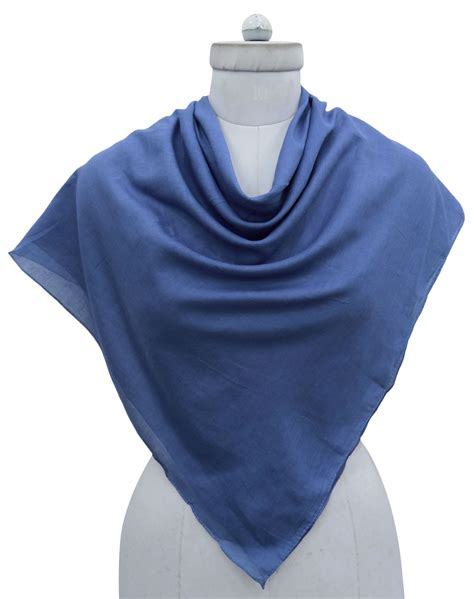 cotton solid scarf square neck wrap fashion bandana