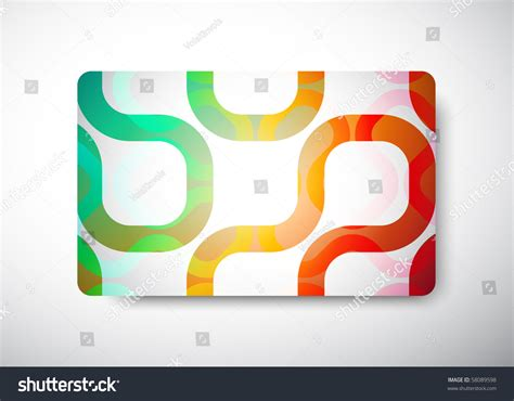 Gift Card Dimensions - gift card size 3 3 8 quot x 2 1 8 quot 86 x 54 mm stock vector illustration 58089598