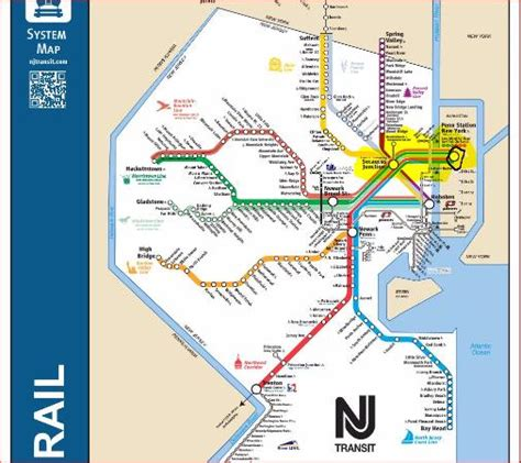 nj transit trains from all highlighted in yellow from