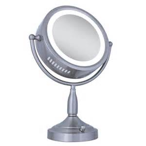 Zadro Led Vanity Mirror Zadro Lighted 8x 1x Vanity Mirror In Satin Nickel