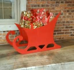 wood patterns for decorations outdoor santa sleigh foter