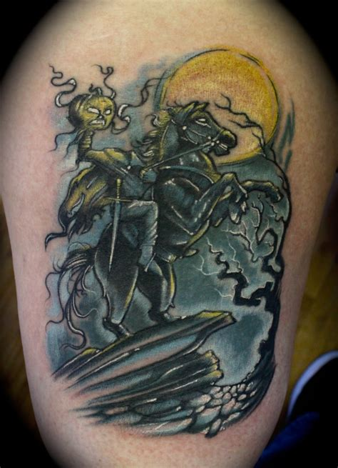 headless horseman tattoo headless horseman by roger ladouceur city