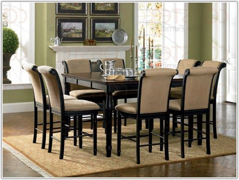 bar height dining table with 8 chairs chair home
