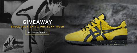 Tigers Giveaways - bruce lee x bait x onitsuka tiger giveaway