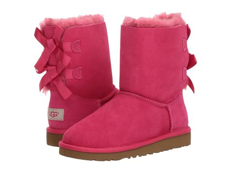 pink ugg boots with bows ugg bailey bow kid big kid zappos free