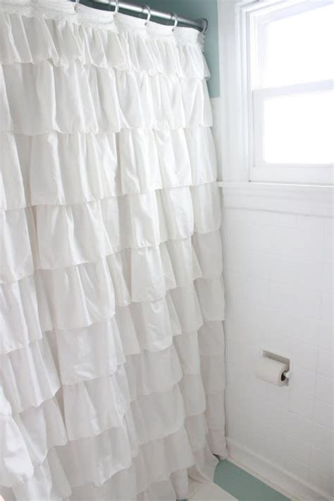 anthropologie ruffle shower curtain ye olde sandwich shoppe 1 anthropologie esque ruffled