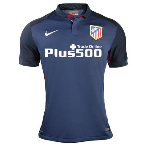 Jersey Madrid Away 2015 2016 blue atletico madrid away shirt 2015 16 nike atleti alternate kit 15 16 football kit news