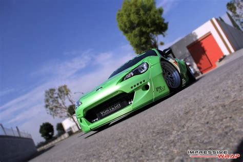 subaru light green rocketbunny subaru brz in light green pearl