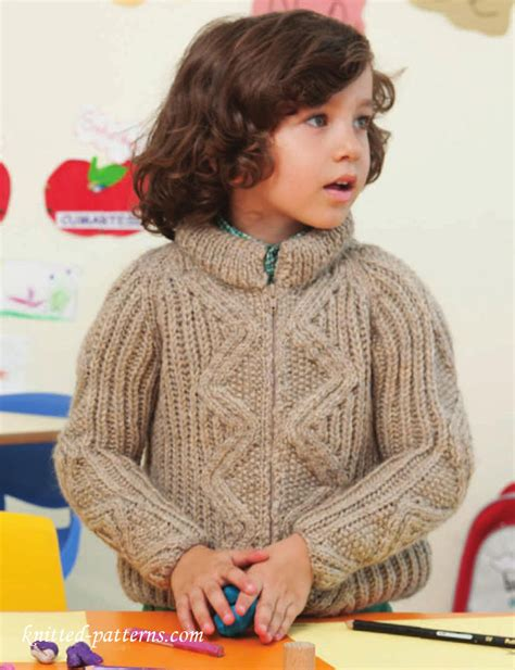 knitting jacket boy s raglan jacket knitting pattern free