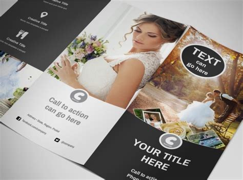 photography brochure template wedding photography package tri fold brochure template